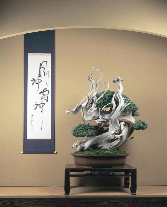 מיקום קלאסי בתוך טוקונומה יפנית לצד מגילה