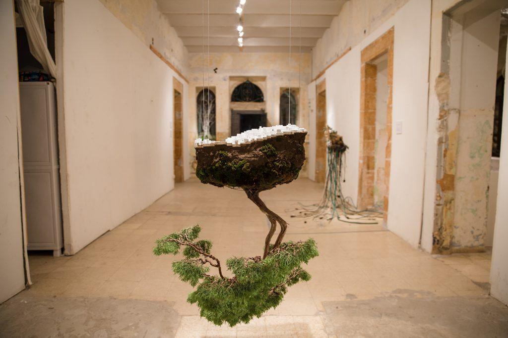 """עץ מתוך התערוכה  """"מצע מנותק"""